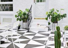 Geometric Pattern on Floor