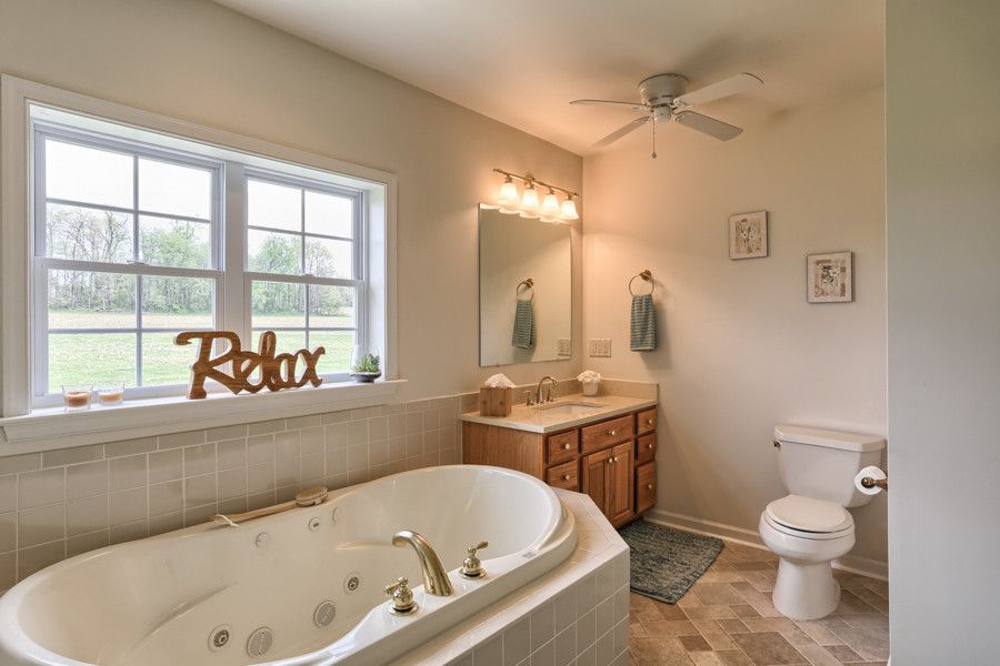 Gorgeous Relax style on the window next to the bathtub moves away from the mundane!