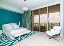 Gorgeous-contemporary-bedroom-of-Miami-home-embraces-Benjamin-Moore-Color-of-the-Year-2021-Aegean-Teal-58138-217x155