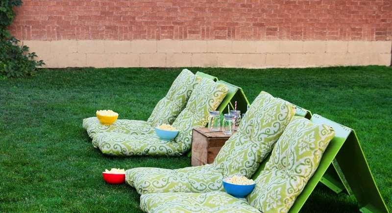ground chairs on lawn