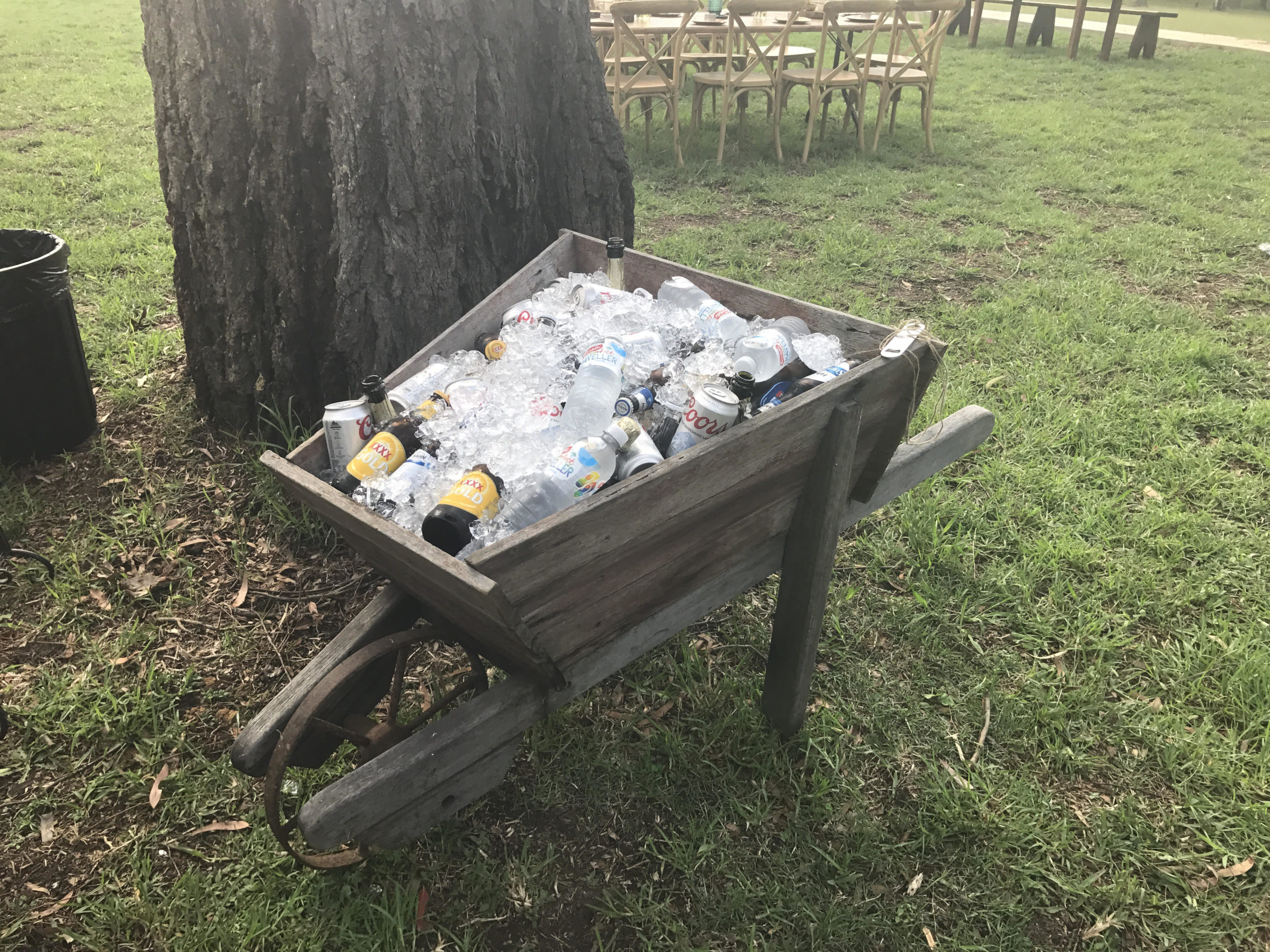 Icy Rustic Wheelbarrow