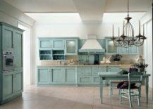 Light Blue-green Kitchen Cabinet