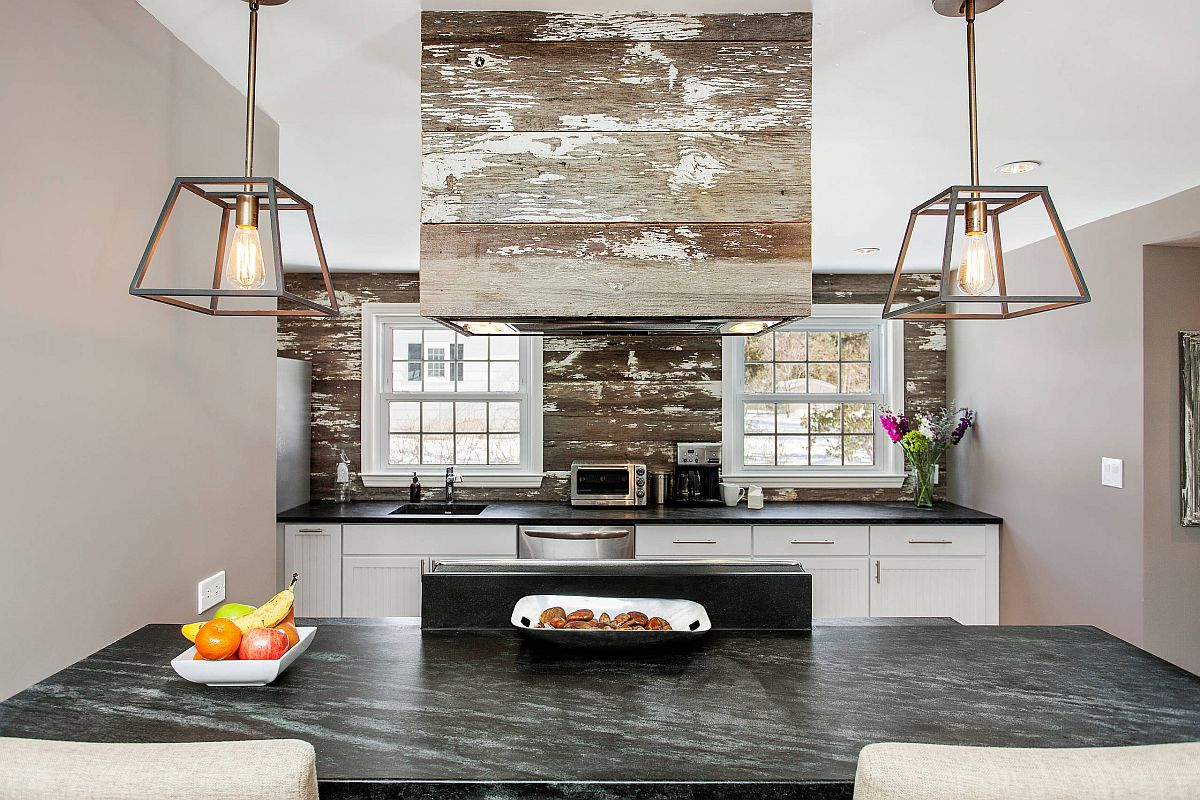Modern New York kitchen with rustic overtones and smart stone countertops