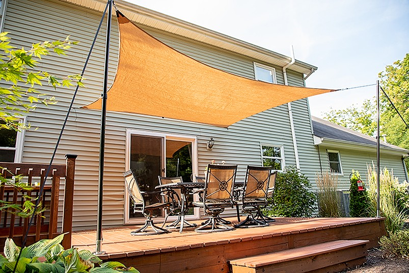 Rectangle shade for patio