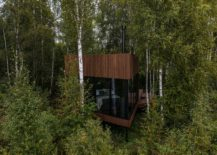 Small-wooden-cabin-with-triangular-edges-and-ample-deck-space-in-the-woods-of-Estonia-60628-217x155