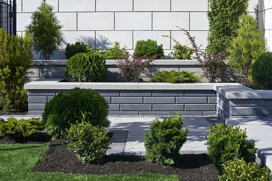 tiered stone planter