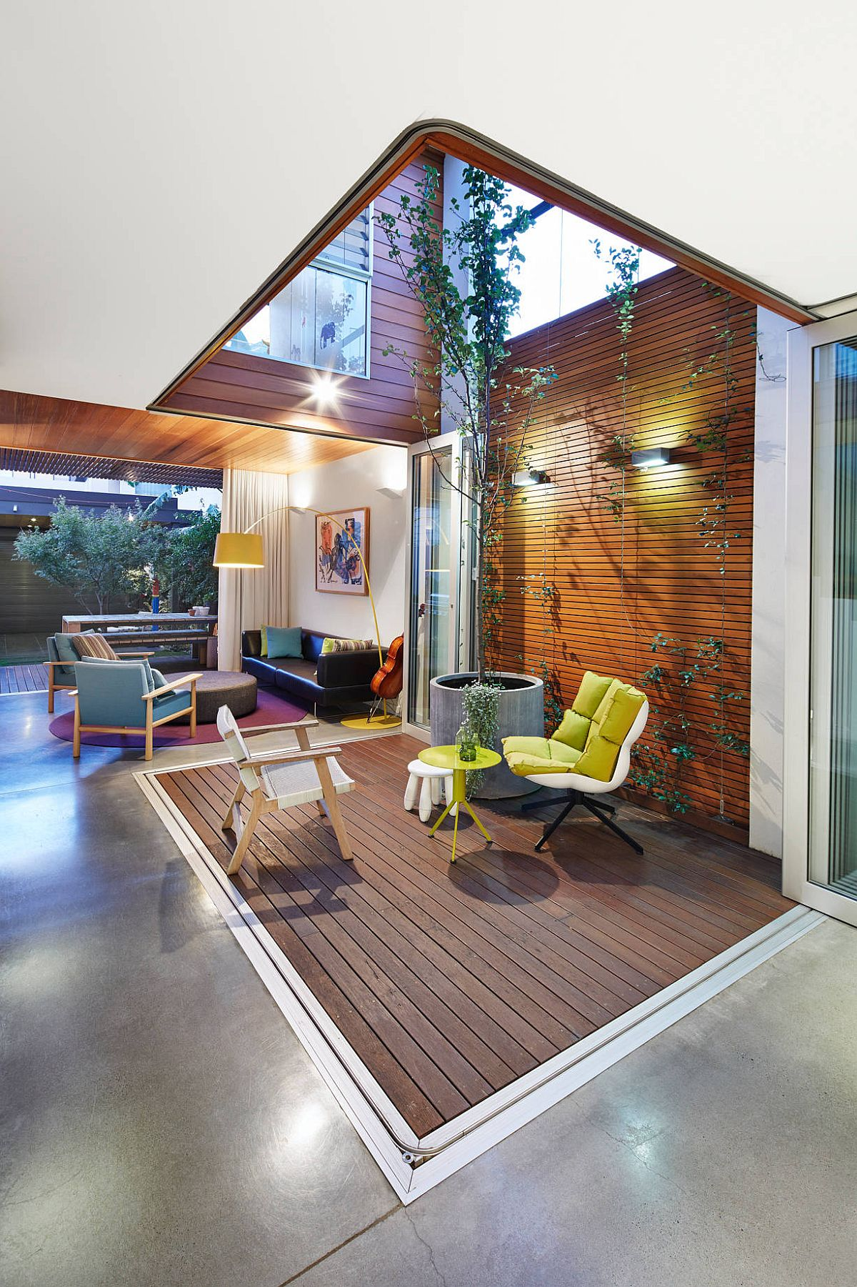 Tiny wooden deck in this Aussie home feels like part of the interior