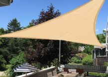 Triangle shade for patio