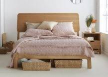 Under-the-Bed Woven Storage Basket