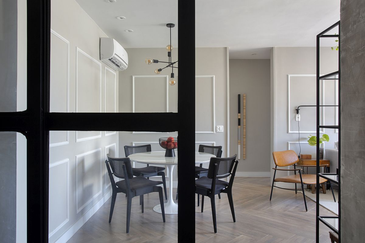 Unique apartment walls were inspired by the previous family house of the young homeowner