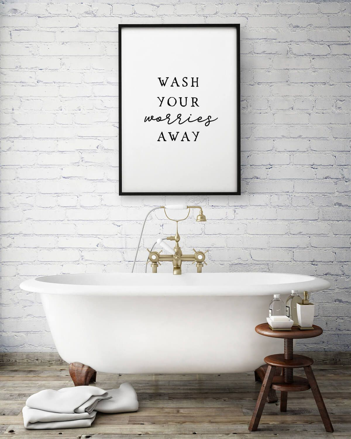 Wall sign that is perfect for the spa-inspired, relaxing modern bathroom