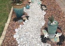 White rocks spilled from jar