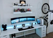 White-themed Video Game Room