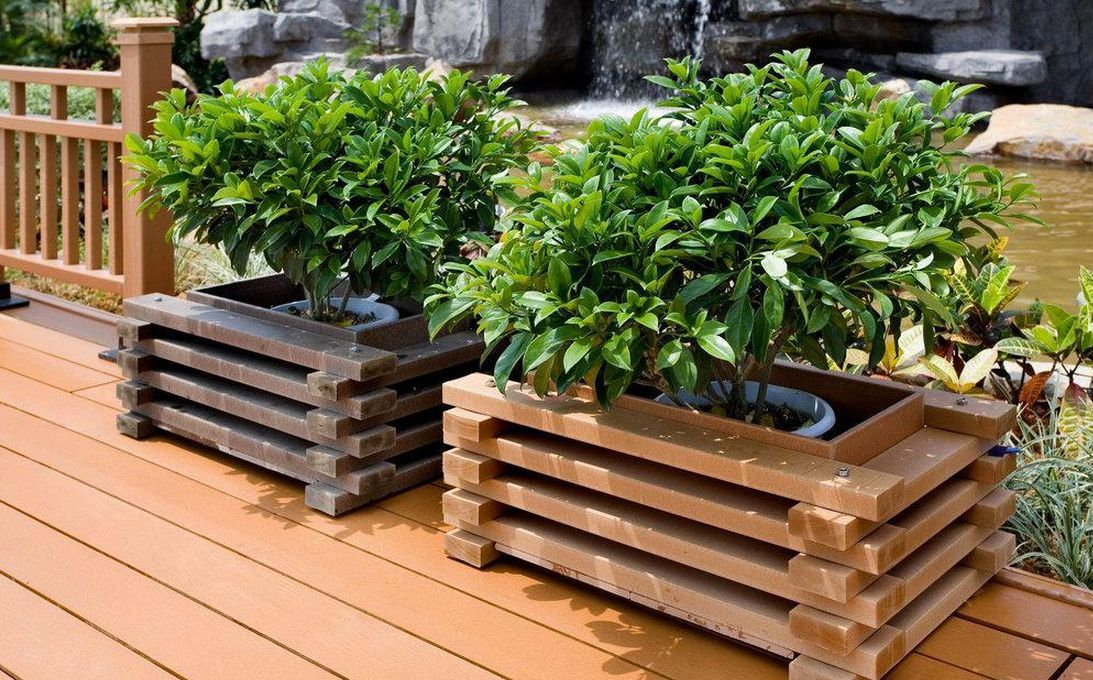 wood crate planter boxes