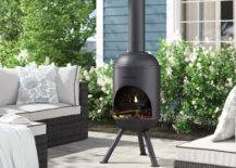 Small Space Fireplace For Patio Chiminea Black