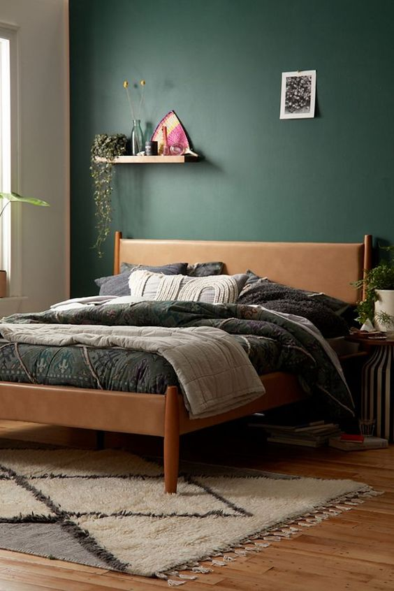Dark Green Bedroom Earth Tones