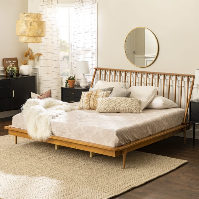 Sandy Tan Earth Tone Bedroom from Pier1