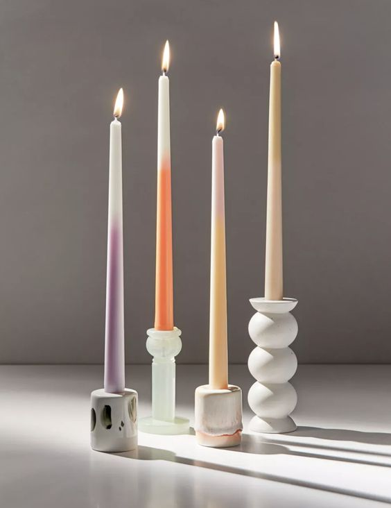 Ombre Taper Candles and Holders from Urban Outfitters