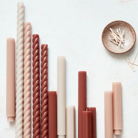Rose and Rust Tones Taper Candles Urban Outfitters