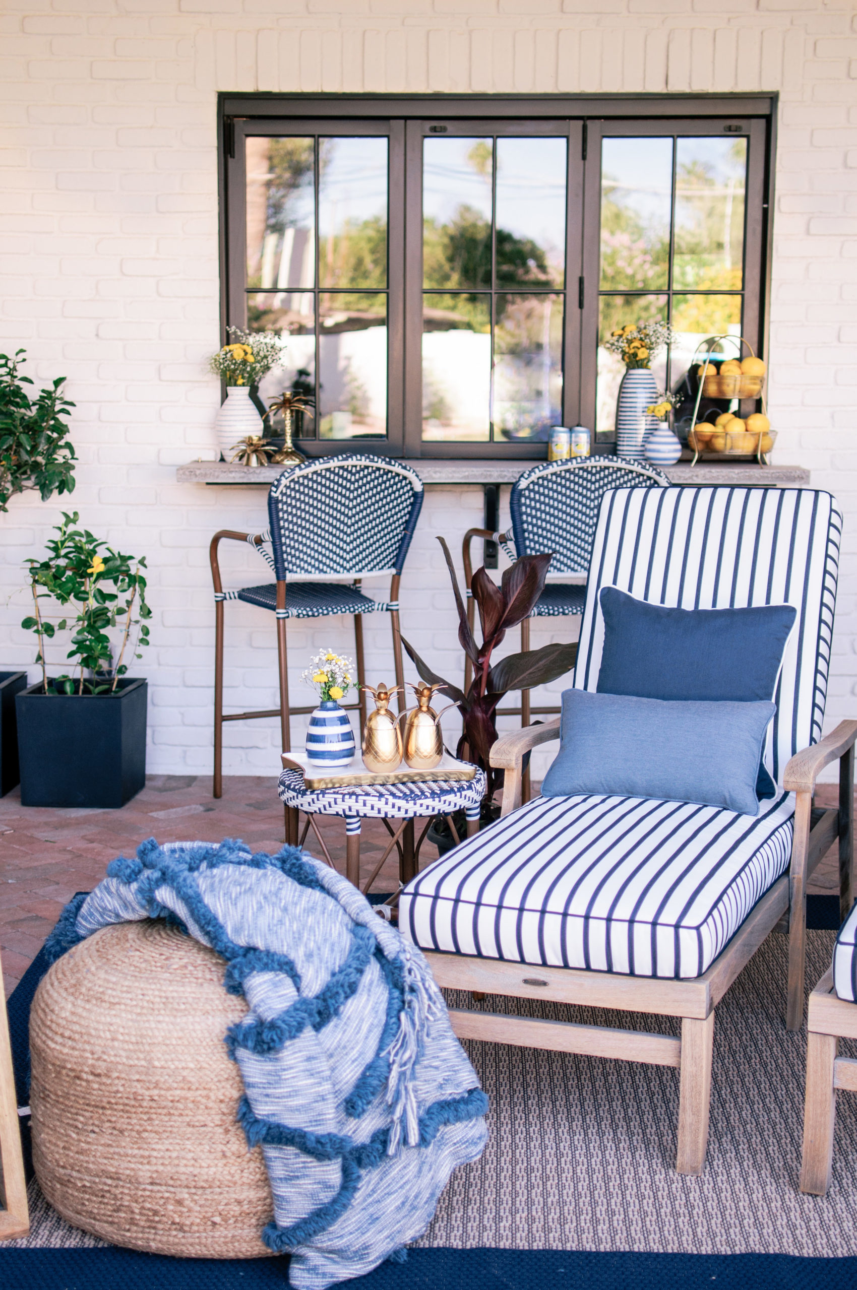 Coastal Blue Patio Space Nautical Theme