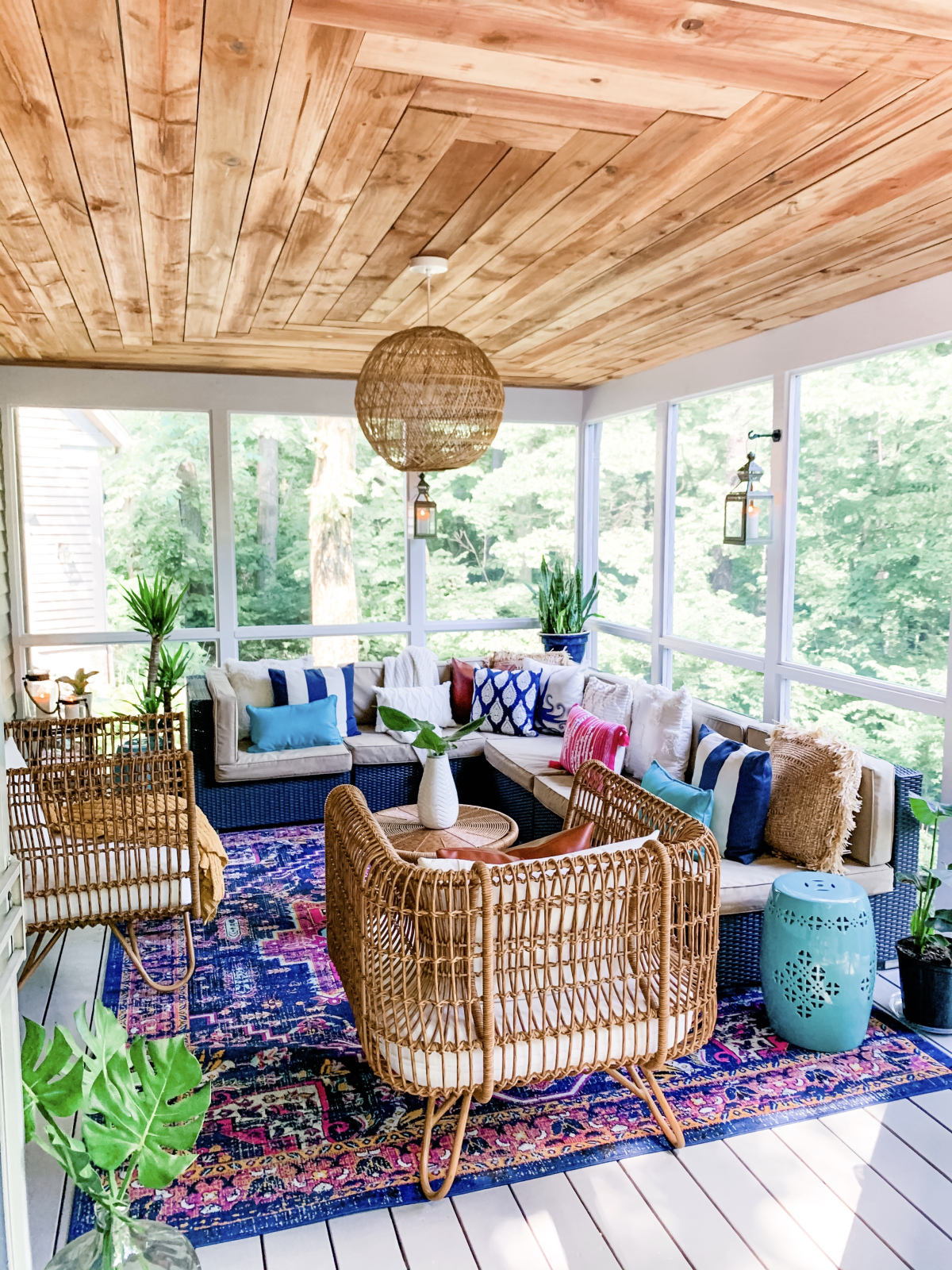 Funky Bohemian Chic Rattan Patio Decor