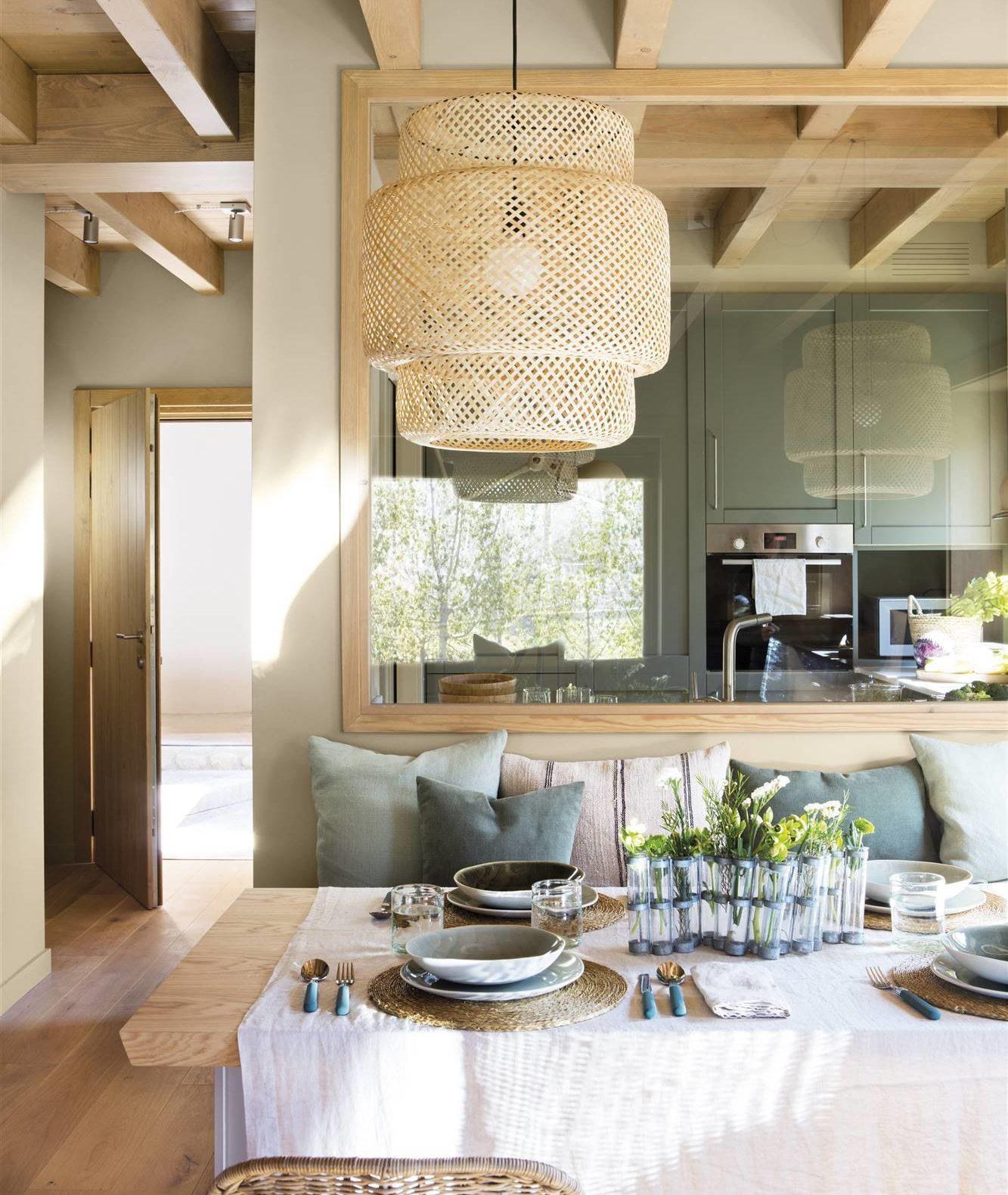 Sinngerlig Pendant Light Throw Pillows Modern Earth Toned Dining Room