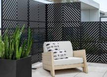 Metal Fence Privacy Wall Modern Patio