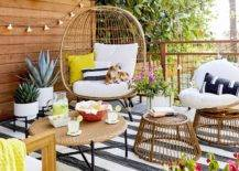 Beautiful Large Statement Egg Rattan Patio Seating Outdoor