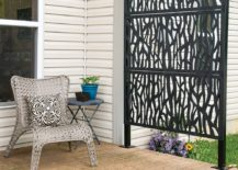 Modern Metal Chic Privacy Wall Porch Patio