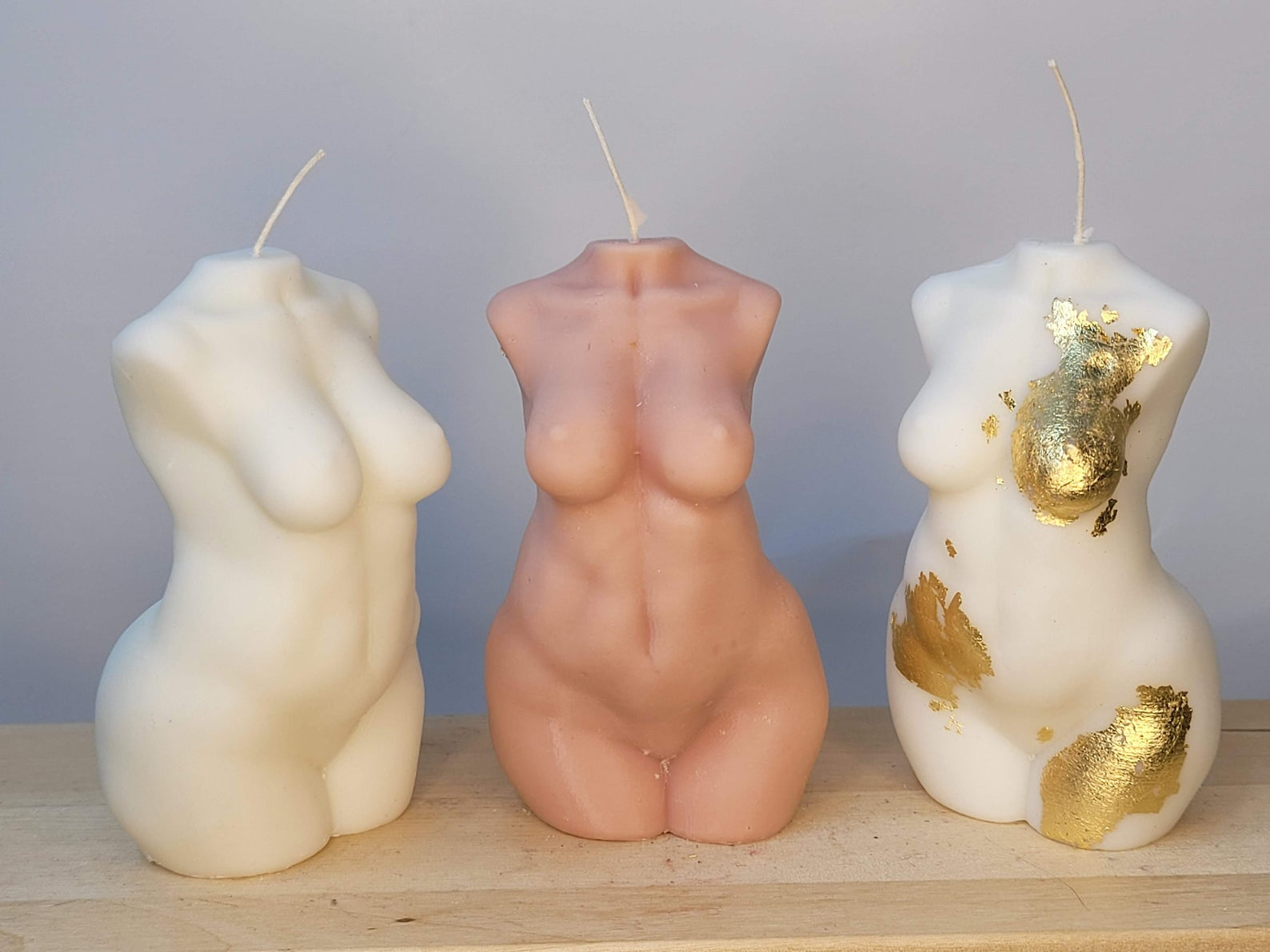 Woman Body Form Wax Candle Decorating Ideas
