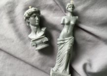 Grecian woman and bust candle decorating ideas
