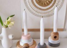 Candle Decorating Ideas Geometric Designs