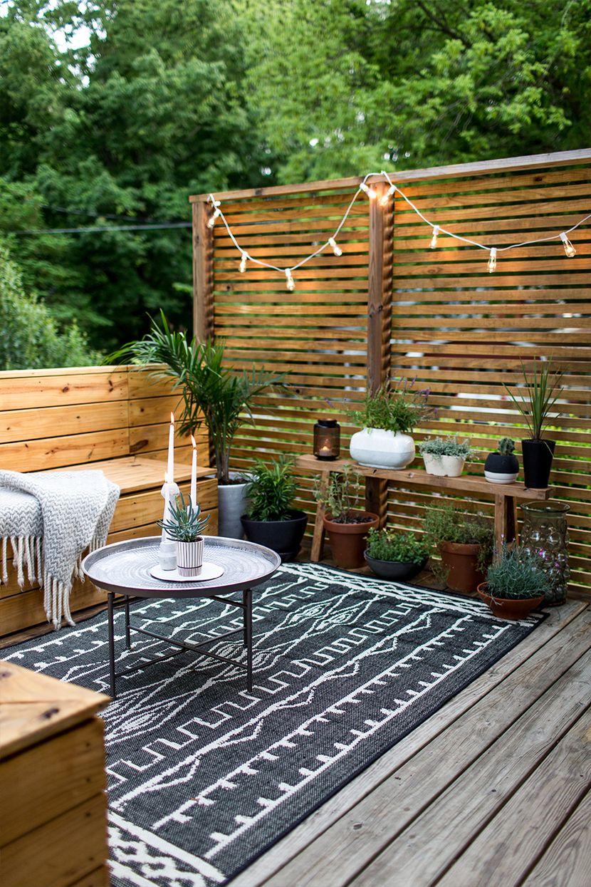 Boho Chic Inspired Patio Modern Cedar Fence Privacy Wall