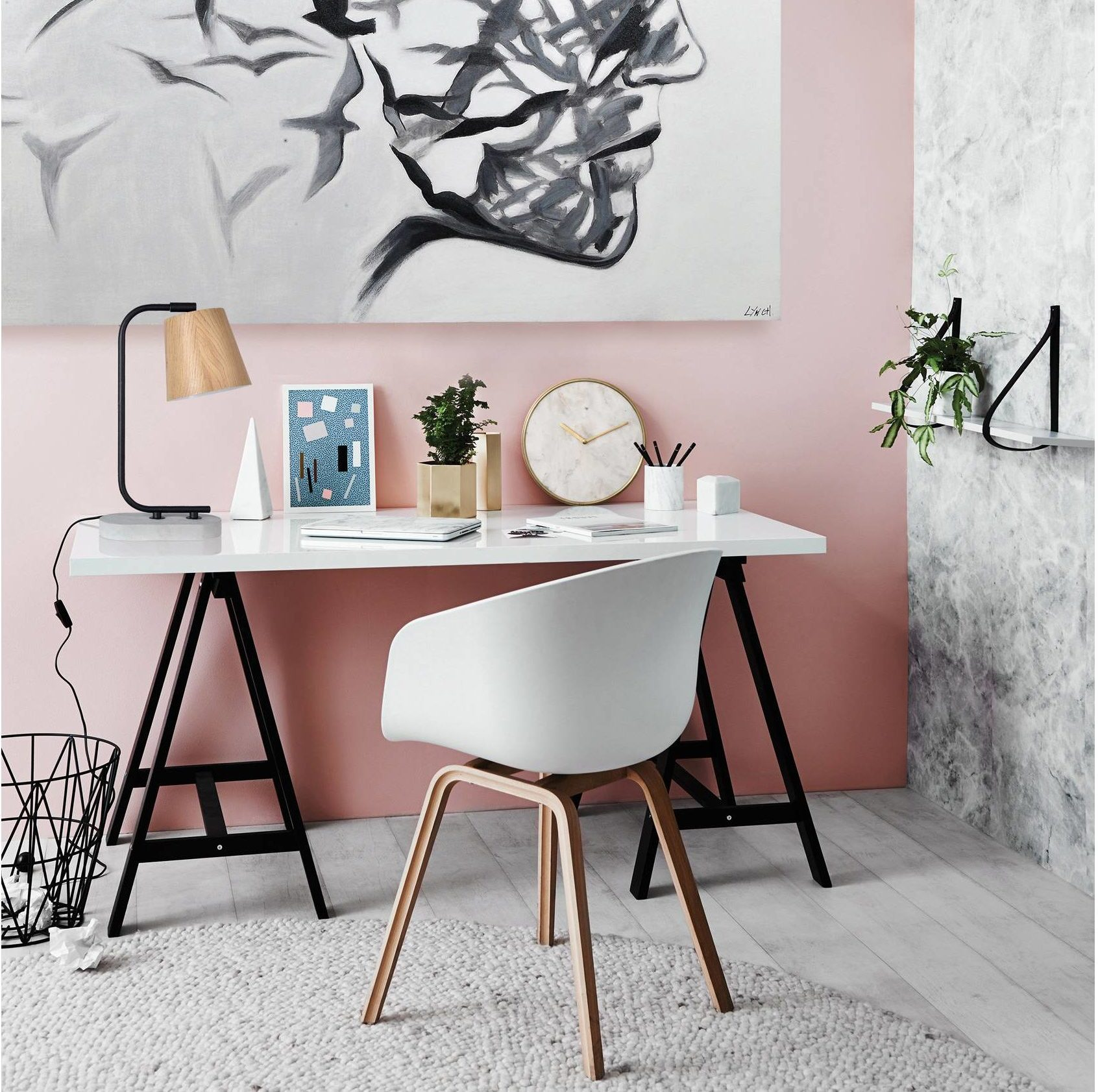 Modern Chic Buckland Table Lamp Artsy Office Space