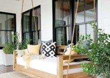 Rustic Chic Modern Swinging Patio Day Bed Alternative Seating