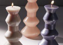 Geometric Shape Candle Decorating Ideas