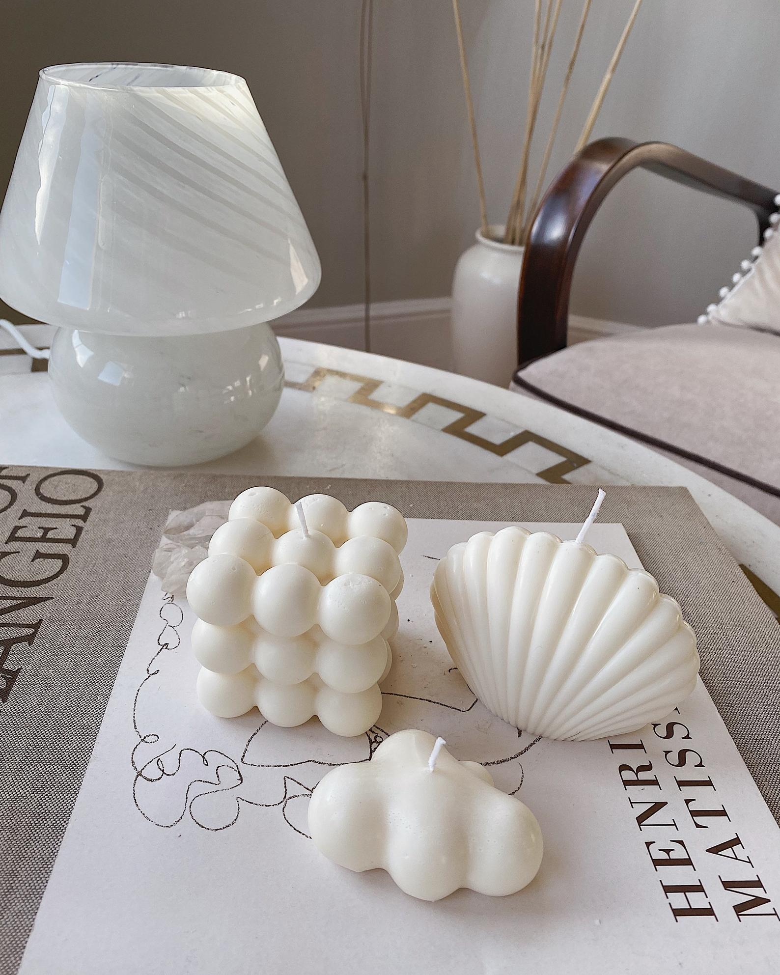 Candle Decorating Ideas Bubble and Shell
