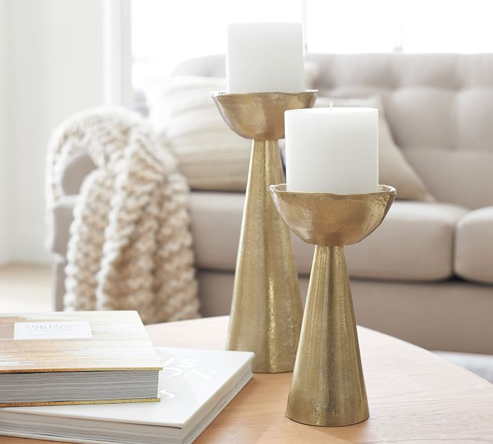 Candle Stand Pottery Barn Brass