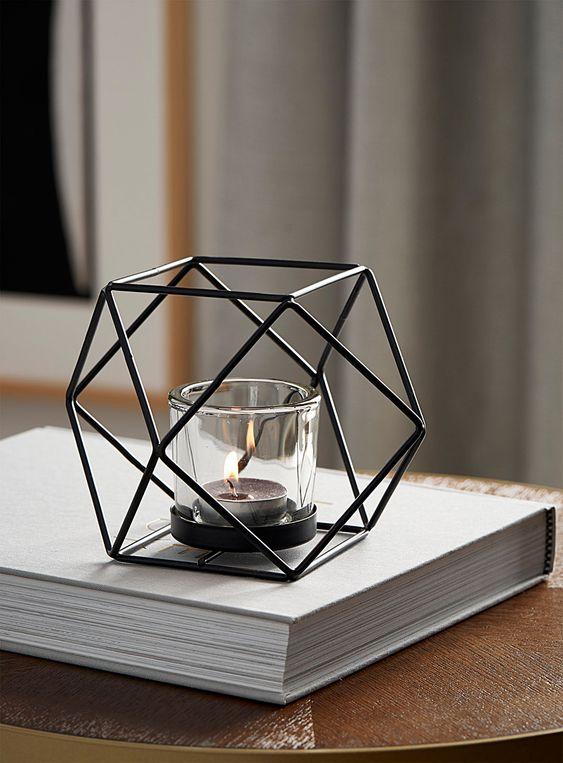 Geo Candle Decorating Ideas Tea Light
