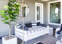 Coastal Patio Decor Swinging Day Bed