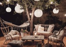 Modern Rustic Chic Patio Decor