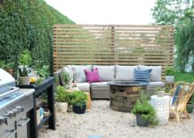 Backyard Barbecue Patio Area Privacy Fence