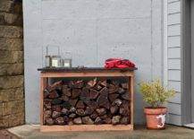 2-in-1 Counter Firewood Rack