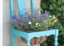 Antique Chair with Flower Pot