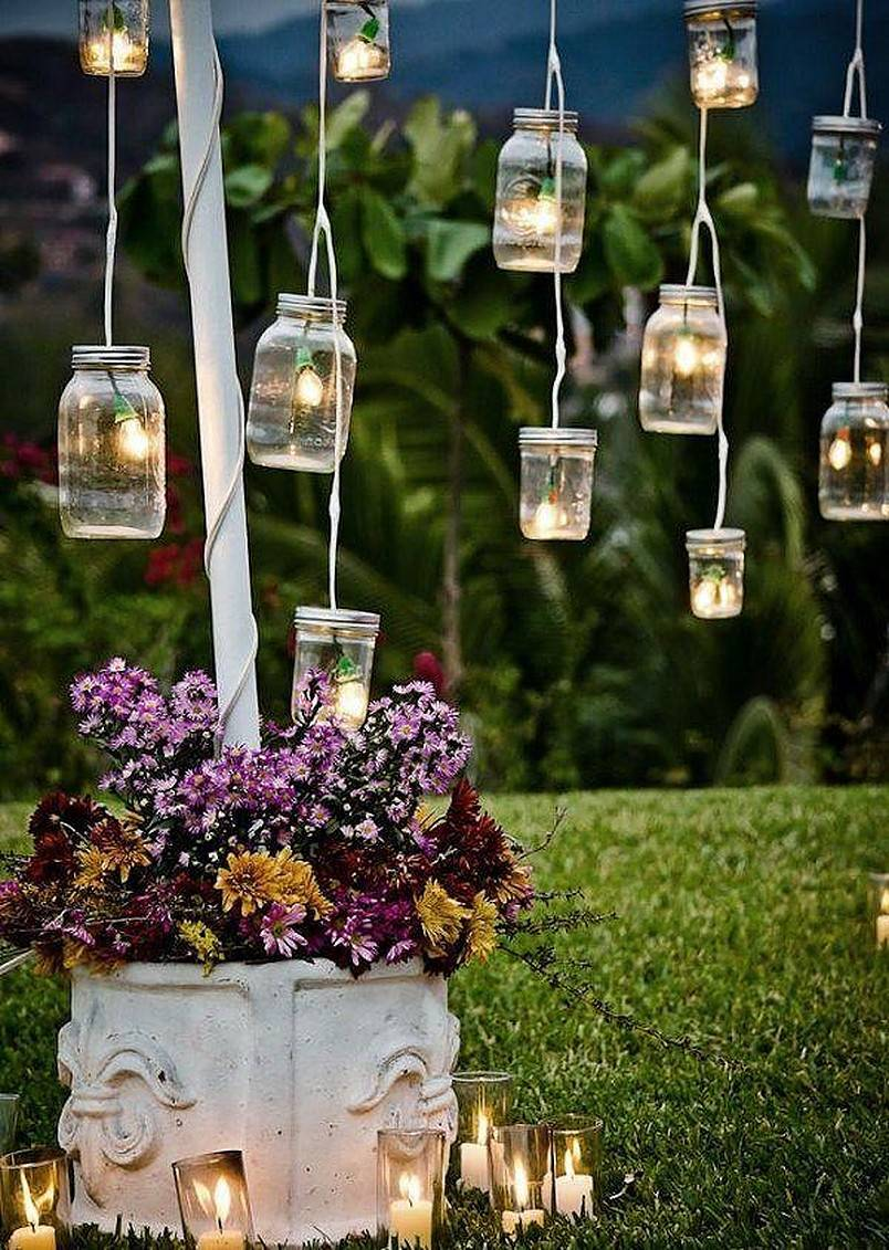 Bulb lights in mason jar string