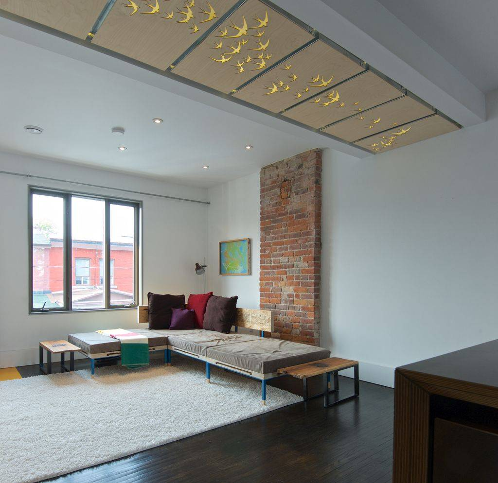 Ceiling panels with fabulous design adds pattern and glam to the interior