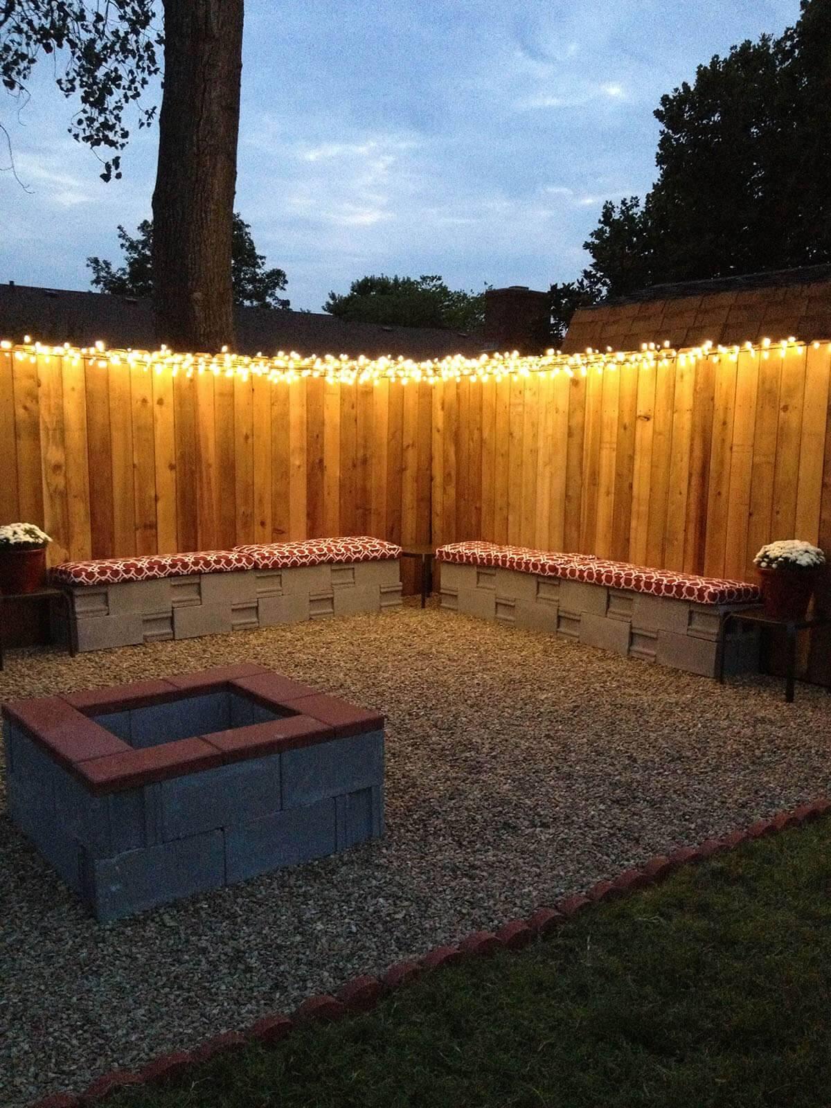 Christmas Lights along Fence