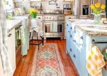 Colorful kitchen interior
