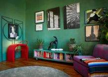 Colorful-living-room-with-dark-green-walls-and-eclectic-decor-21557-217x155