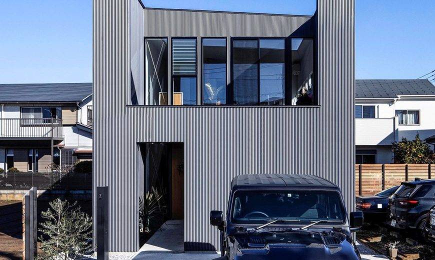 Gray, White and Wood Create Space-Savvy Modern Japanese Home with Private Decks